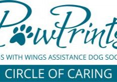 Paw Prints Circle of Caring logo (reconstructed) OUTLINES